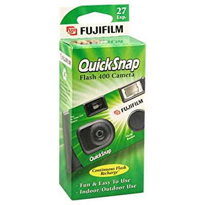 Quicksnap Flash 400 Single-Use Camera With Flash, Pack of 4 from FUJIFILM