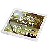 Sottobicchiere con scritta'Keep Calm and Relax Yourself'