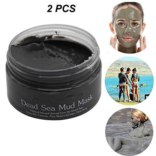 Mineraal moddermasker uit de Dode Zee, natuurlijk diep reinigend masker, anti-aging ontgift het masker voor het minimaliseren van poriën, verwijder mee-eters (2PCS)