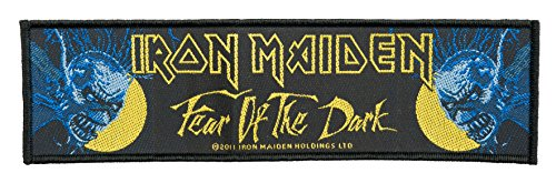 Parche De Iron Maiden – Fear of the Dark – Iron Maiden Patch – Stripe tejida & licencia oficial.