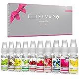 10 x 10ml Elvapo Premium Plus E-LIQUID-BOX - mit extra starkem Geschmack | Probierset für...