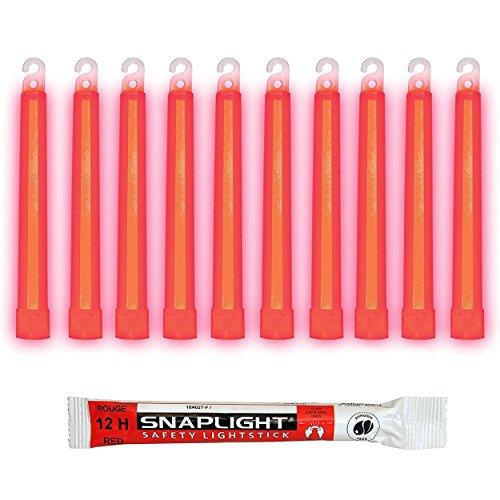 Cyalume SnapLight Rouge 15cm Bâton Lumineux Glow Stick Light Stick Fluorescent Durée 12 heures (Boîte de 100)