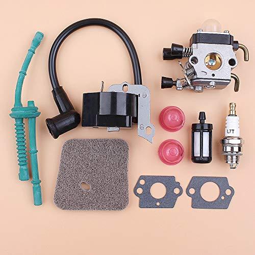 LIBEI Kit de Manguera de Combustible de Filtro de Aire de Bobina de Encendido de carburador para STIHL FS38 FS55 FS45 FS46 FC55 KM55, Piezas de Repuesto de desbrozadora