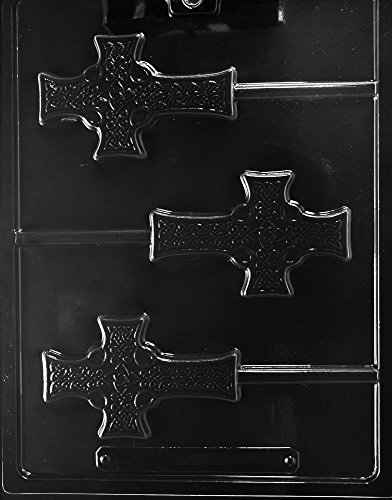 Grandmama's Goodies R074 Celtic Cross Lollipop Chocolate Soap Mold with Exclusive Molding Instructions