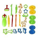 Outils de Pâte À Modeler 26 pièces Moules Kit pour Argile Pâte à Modeler en Plastique Rollers Pâte Moules Cutters DIY...