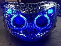 SG03J マジェスティ用 社外 プロジェクター ヘッドライト LED イカリング付き ブルー発光タイプ MAJESTY