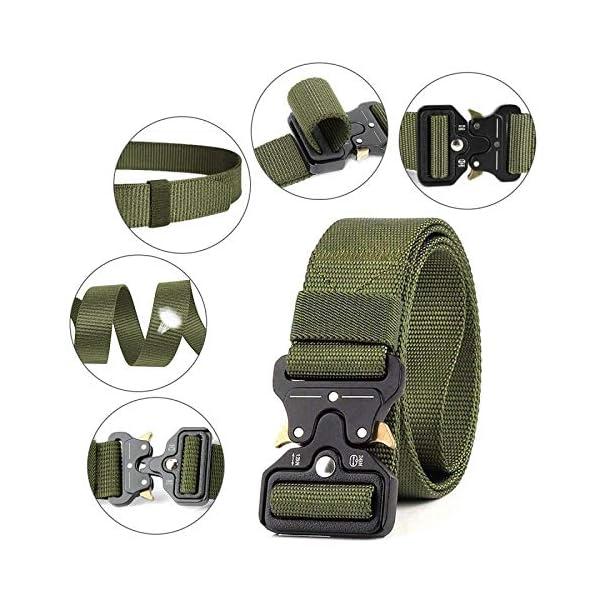 51Dhgkh7wuL. SS600  - AivaToba Cinturón Táctico para Hombres Cinturón de Seguridad Cobra Militar Resistente de Nylon con Hebilla Metálica de…