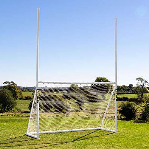 FORZA Kombination Torpfosten aus PVC - American Football und Fußball Kombi Tore (3m x 1,8m)
