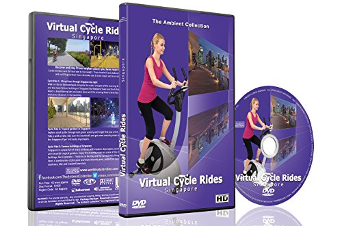 Virtual Cycle Rides - Singapore with Music for Indoor Cycling Treadmill and Running Workouts