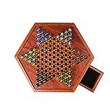 Juego de mesa de mármol, juego de mesa de mujer china con cajón de almacenamiento de mármol de cristal