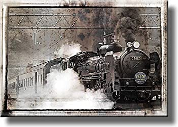 Steam Train Picture on Stretched Canvas Wall Art Décor Ready to Hang!