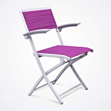 Folding Chairs Chess Chairs Folding Backs Household Office Chairs Conference Chairs Training Chairs (Color : Purple)