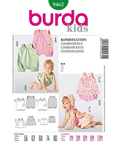 Burda B9462 Patron de Couture Coordonnés 19 x 13 cm