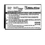 Akku-King Akku kompatibel mit LG BL-42FN Li-Ion - 1250mAh - für Optimus Me P350, Optimus Chat C550