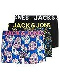 JACK & JONES JACCOLORFULL Skull Trunk 3 Pack PS Caleçon Boxeur, Jaune Vif, XXL/4XL Homme