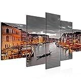 Tabla decoración mural de Venecia - 200 x 100 cm Vista de impresión en lienzo Salón Apartamento - listo para colgar - 604351b