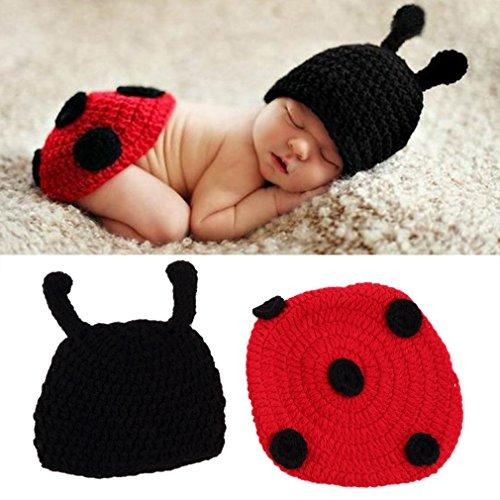 Gugutogo Berretti di cappello del costume del cappello di costume di fotografia della foto del filato del neonato dell'uncinetto del neonato