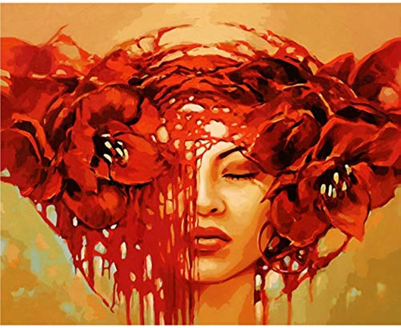 WGXCC DIY Digital Painting Frameless Abstract Figure DIY Malen nach Zahlen Frauen Bild Malen nach Zahlen für Wohnkultur 40X50Cm einzigartiges Geschenk Frameless B07KF822KF   Ausgezeichnete Leistung
