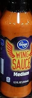 Kroger Wing Sauce Medium 12 Oz (Pack of 2)