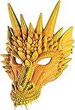 Forum Novelties Dragon Half Mask (Orange)
