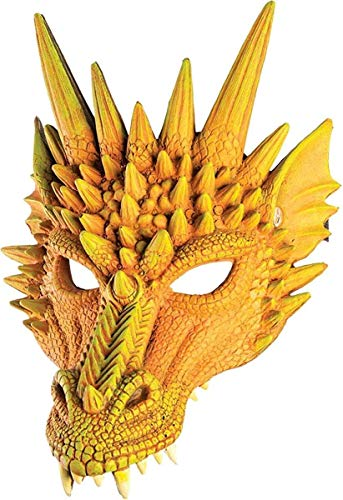 Forum Novelties Dragon Half Mask (Orange)