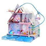 LOL Surprise OMG Winter Chill Cabin Wooden Doll House Playset with 95+ Surprises - Exclusive Colorful Dollhouse with Hot Tub, Real Ice Skating Rink, and Ski Lift - Great Gift for Girls Age 5-11 Years