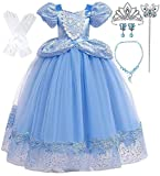 Romy's Collection Princess Blue Cinderella Costume Party Dress-up Set (3-4, Blue 05)