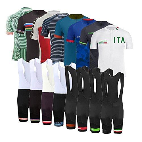 Uglyfrog Completo Uomo Maglia Ciclismo Abbigliamento Estivo da Bici Manica Corta e Pantaloncini Confortevole Traspirante DXMZ07