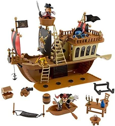 Deluxe Mickey Mouse Pirates of the Caribbean Pirate Ship Play Set [Toy] by Disney