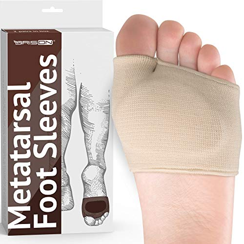 Metatarsal Pads - Gel Sleeves Forefoot Cushion Pads - Fabric Soft Foot Care Ball...