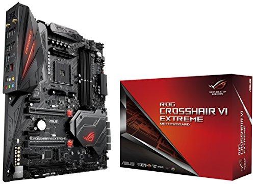 Asus ROG Crosshair VI Extreme Gaming Mainboard Sockel AM4 (EATX, AMD X370, 4x DDR4-Speicher mit 3200 MHz+, Dual M.2, Aura Sync, USB3.1, 802.11ac-WLAN)