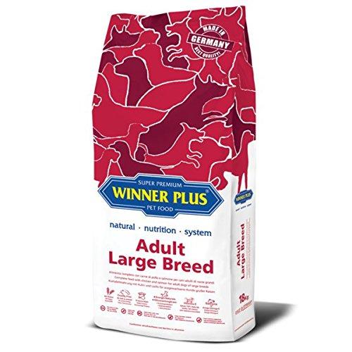 WINNER PLUS Adult Large Breed 18 kg - Alimento completo con carne di pollo e salmone per cani adulti di razze grandi