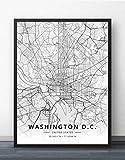 Leinwand Bild,Washington Dc Vereinigte Staaten Stadt Karte