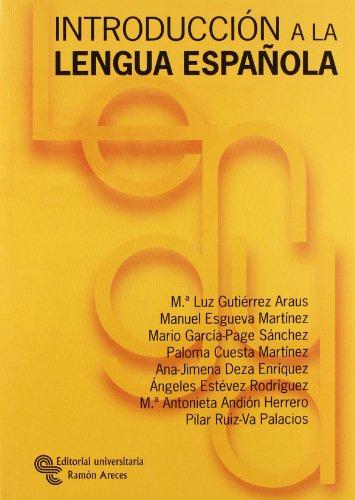 Introducción a la lengua española Manuales