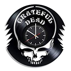 Grateful Dead Music Band Vinyl Wall Clock, Grateful Dead Band Gift for Any Occasion, Christmas, Birthday, Holiday, Housewarming Present