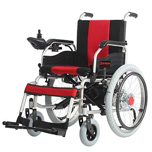 LFF Wheelchair Elektrische rolstoel, licht klappen oudere scooter, elegante kleding, elektrische carbon stalen rolstoel, krachtige dubbele motor