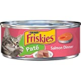 Purina Friskies Pate Wet Cat Food, Salmon Dinner - (24) 5.5 oz. Cans