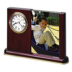 Howard Miller Portrait Caddy Table Clock 645-498 - Picture Frame & Timepiece with Quartz Movement