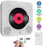 Tragbarer CD Player mit Bluetooth, an der Wand montierbaren eingebauten HiFi-Lautsprechern,...