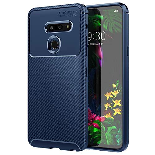 Preisvergleich Produktbild MoKo Kompatibel für LG G8 ThinQ Hülle / LG G8 Hülle / G820 Hülle,  Handyhülle aus Flexibel TPU,  Handytasche mit Käfer und Twill Design Passend für LG G8 ThinQ / LG G8 / G820 - Blau