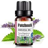 Aceites Esenciales de Aromaterapia - Natural 100% de Aceite Esencial Natural Conjunto de Difusores y Humidificadores con Caja de Regalo Exquisita (UVa Natural, 10 ML) (Pachuli)