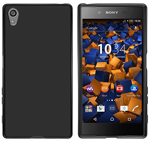 mumbi Hülle kompatibel mit Sony Xperia Z5 Handy Hülle Handyhülle, schwarz