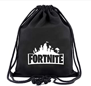 Maxi Fortnite Canvas Graphic School Backpack Durable Lightweight Large Space Waterproof Daypacks Drawstring Gym Bag Travel Backpack For Women Men Student (Fortnite)
