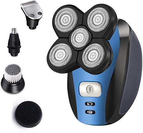 Afeitadora para Hombres Afeitadora Eléctrica Conjunto de Aseo 5 en 1 Afeitadora...