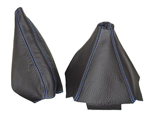 Für Honda CRX del Sol 1992–1997Gear & Handbremsmanschette schwarz Leder blau Nähten