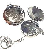 Portable rond en acier inoxydable de poche Cendrier cigare Accessoires avec porte-clés
