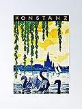 AZSTEEL Konstanz Am Bodensee Travel Advertisement Poster No