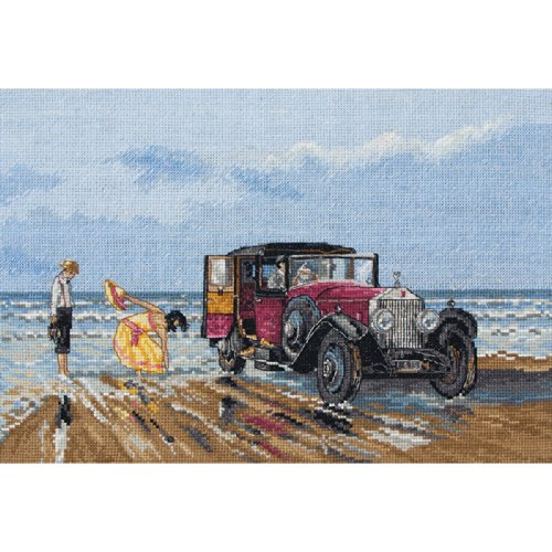 Maia Vintage Rolls On The Beach Counted Cross Stitch Kit-8