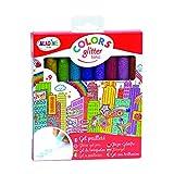 Aladine - Colors Glitter Tonic - Crayons Gel Paillettes - Loisirs Créatifs Enfant - 9 Crayons pour Faire Briller les Dessins - À partir de 5 Ans