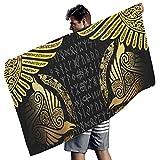 Tobgreatey Toalla de baño vikingo Odin con diseño de alas de...